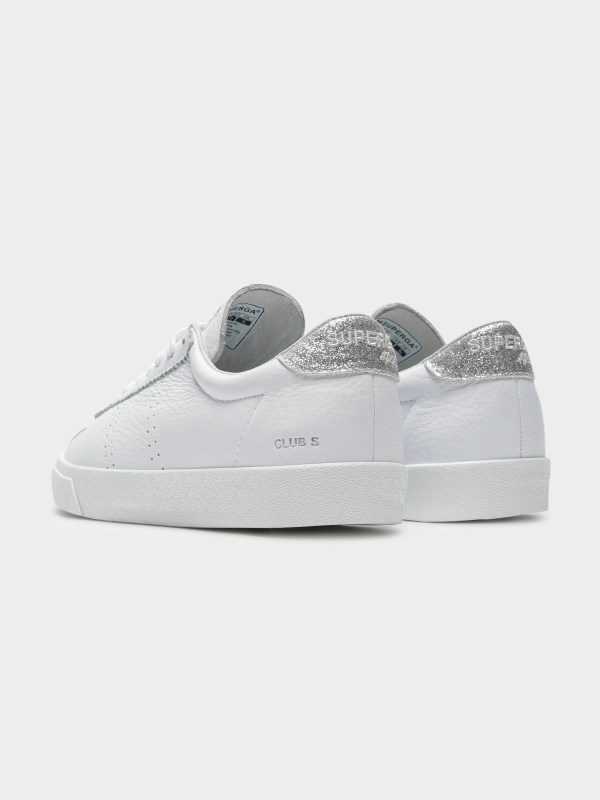Womens 2869 Club S Comfleaglitter Sneakers in White
