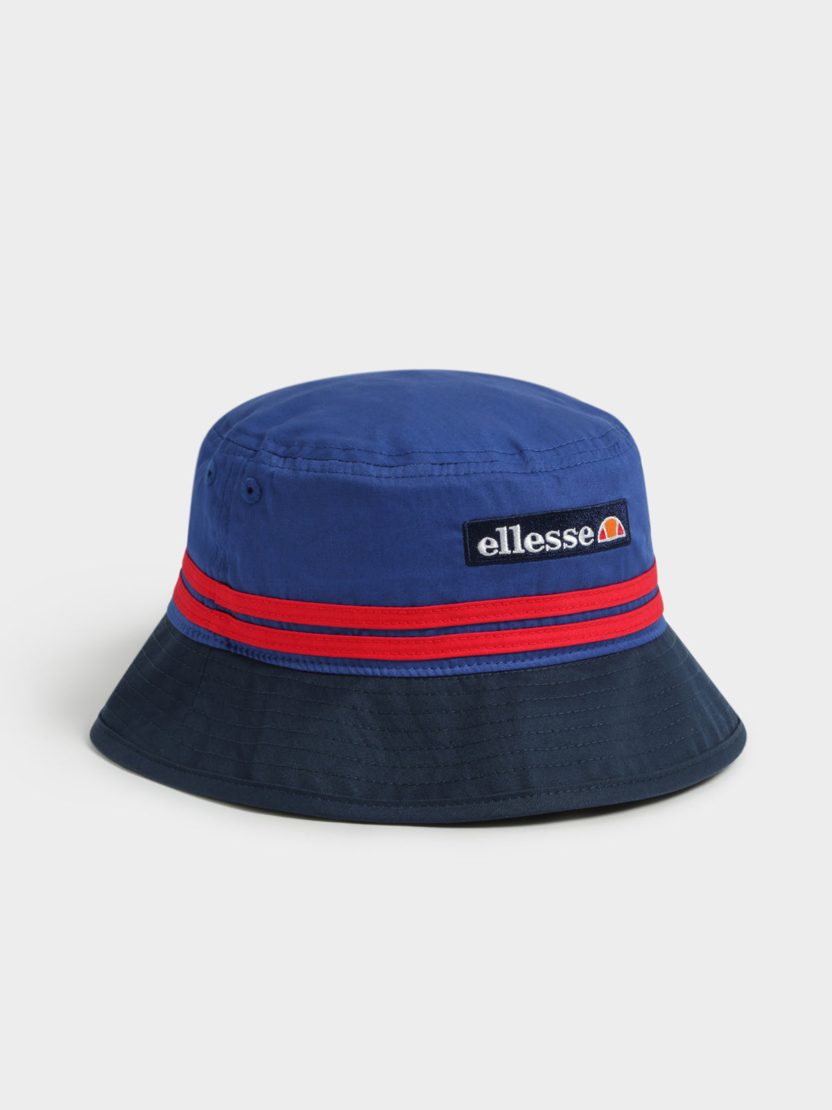 Levan Bucket Hat in Navy, Blue & Red
