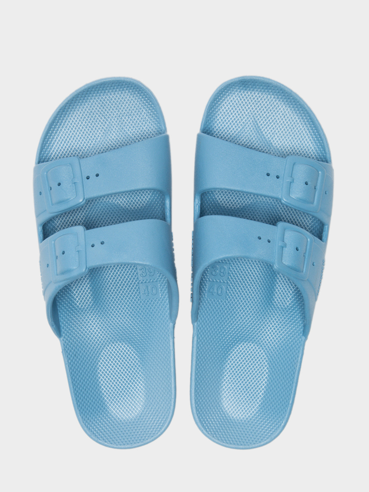 Unisex Freedom Moses Slides in Lagoon Blue