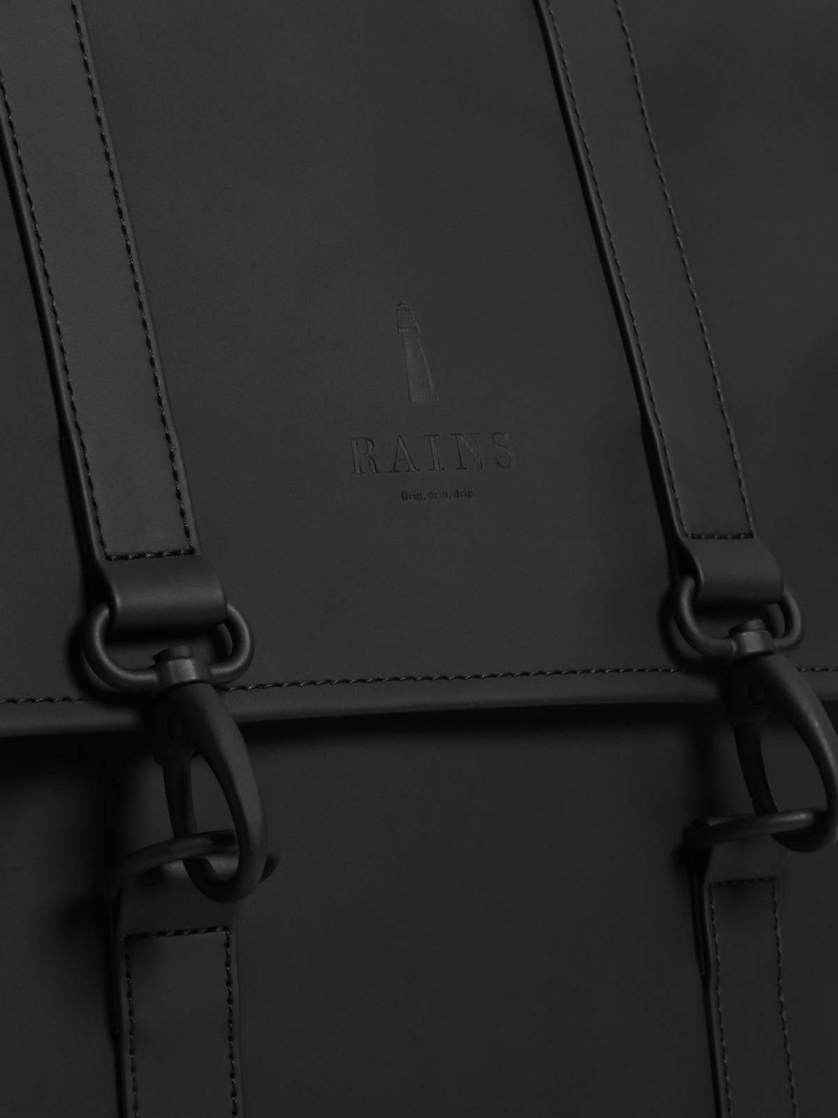 MSN Mini Backpack in Matte Black