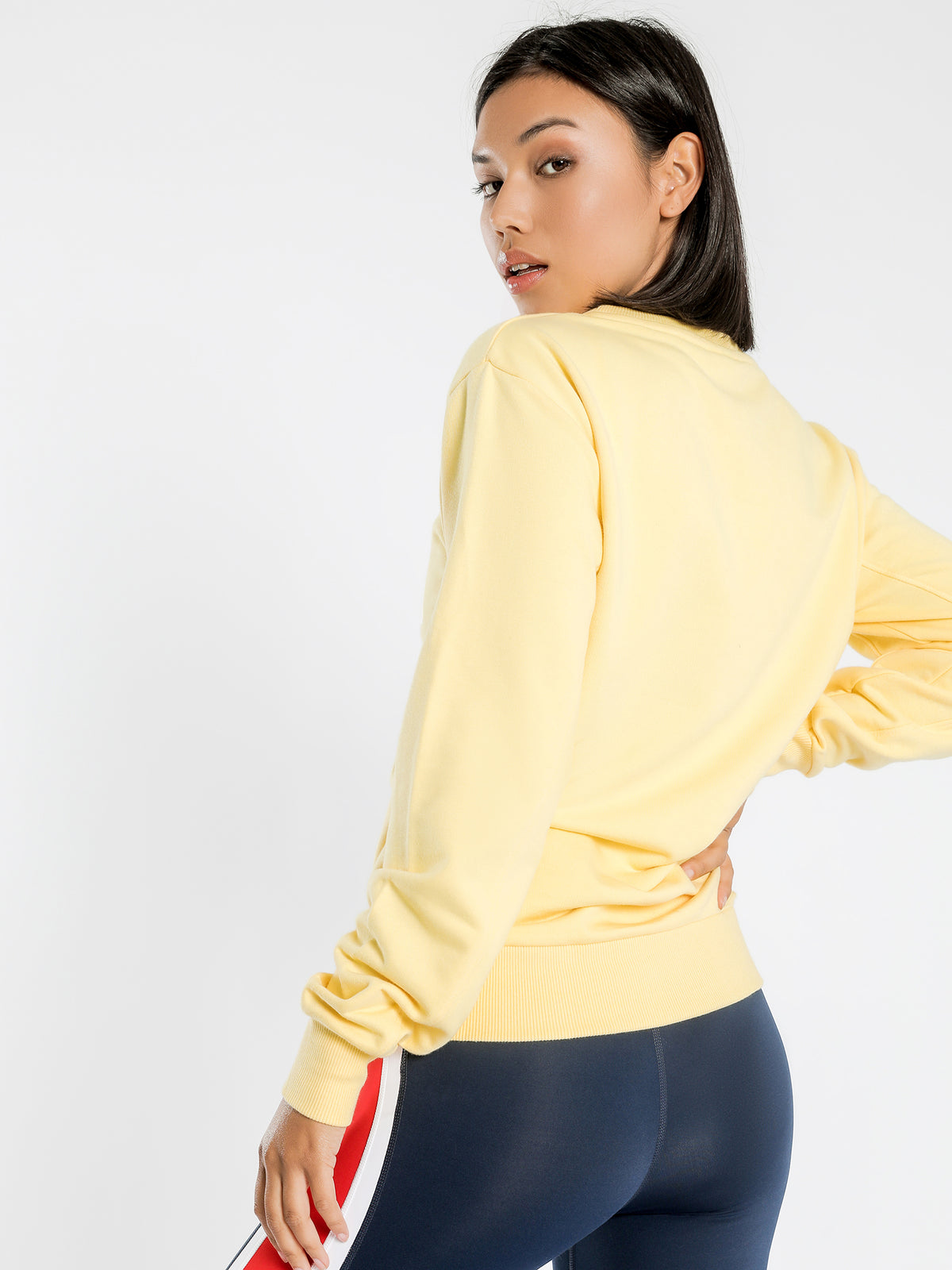 Eureka Crew Sweater in Yellow