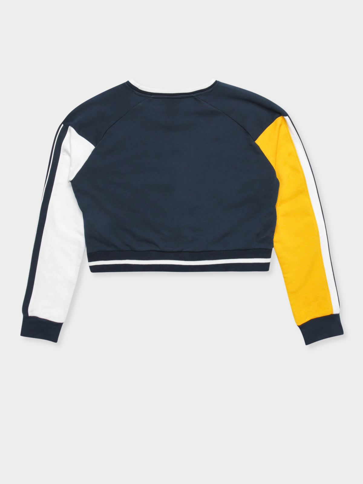 Mania Cropped Sweatshirt in Navy