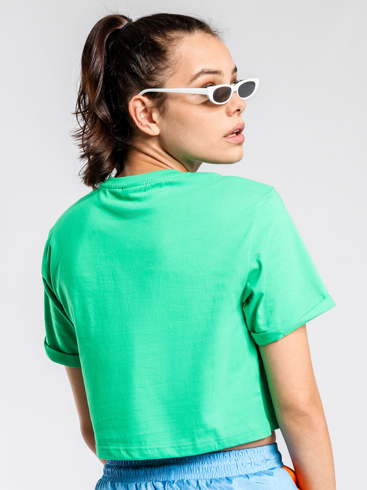 Alberta Cropped T-Shirt in Green