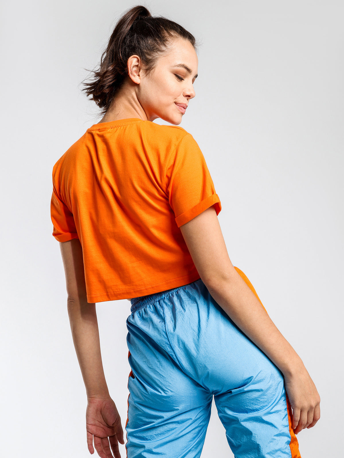 Alberta Cropped T-Shirt in Orange
