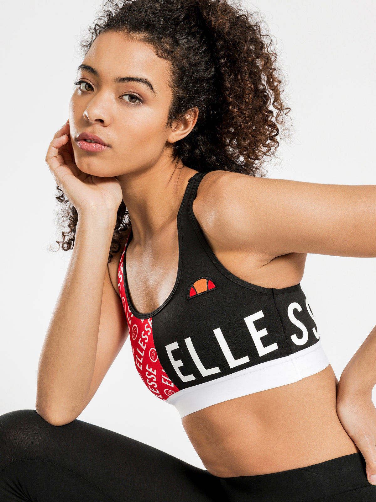 Bia Sports Crop in Black & Red