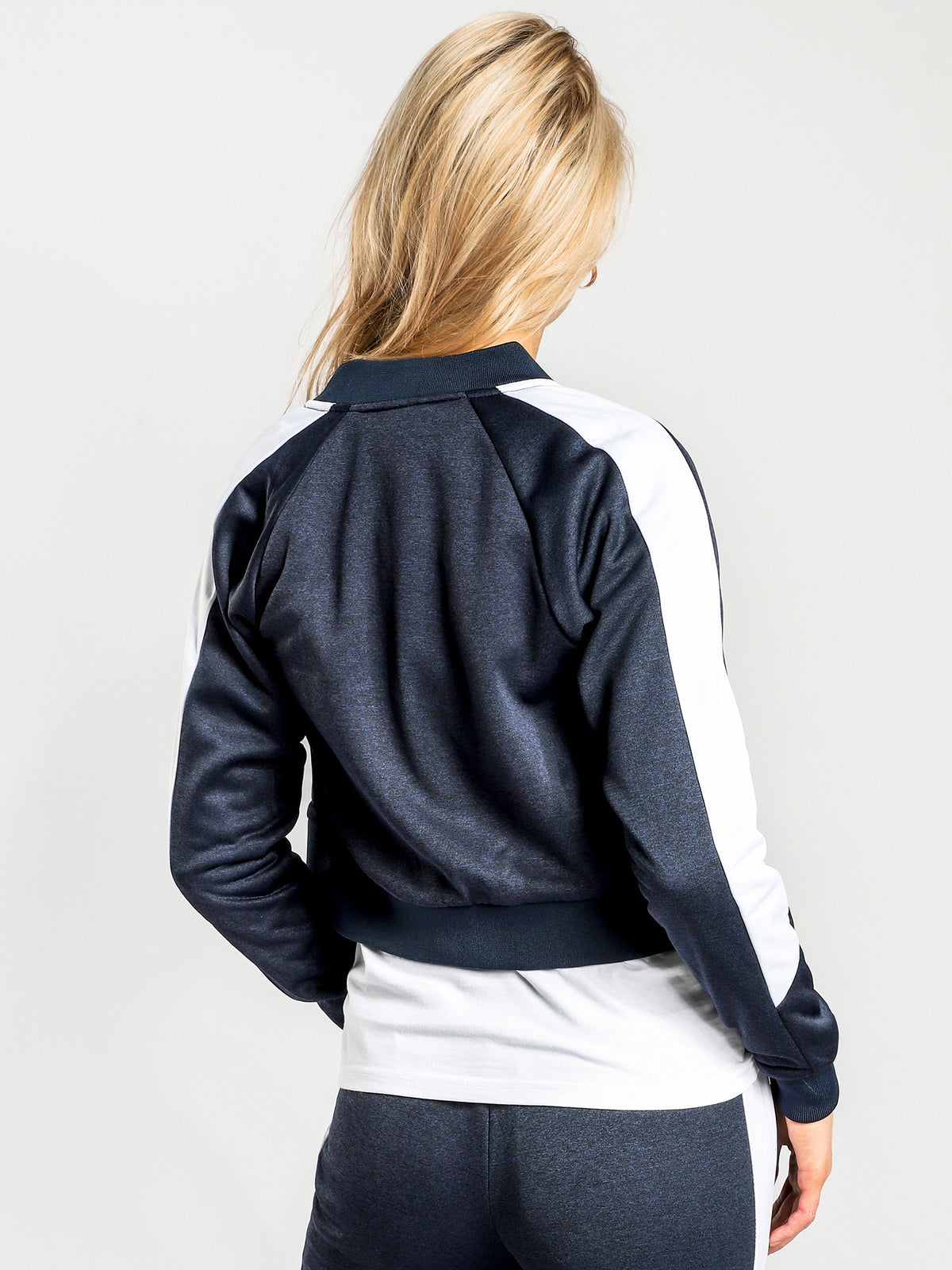 Insalata Jacket in Navy & White