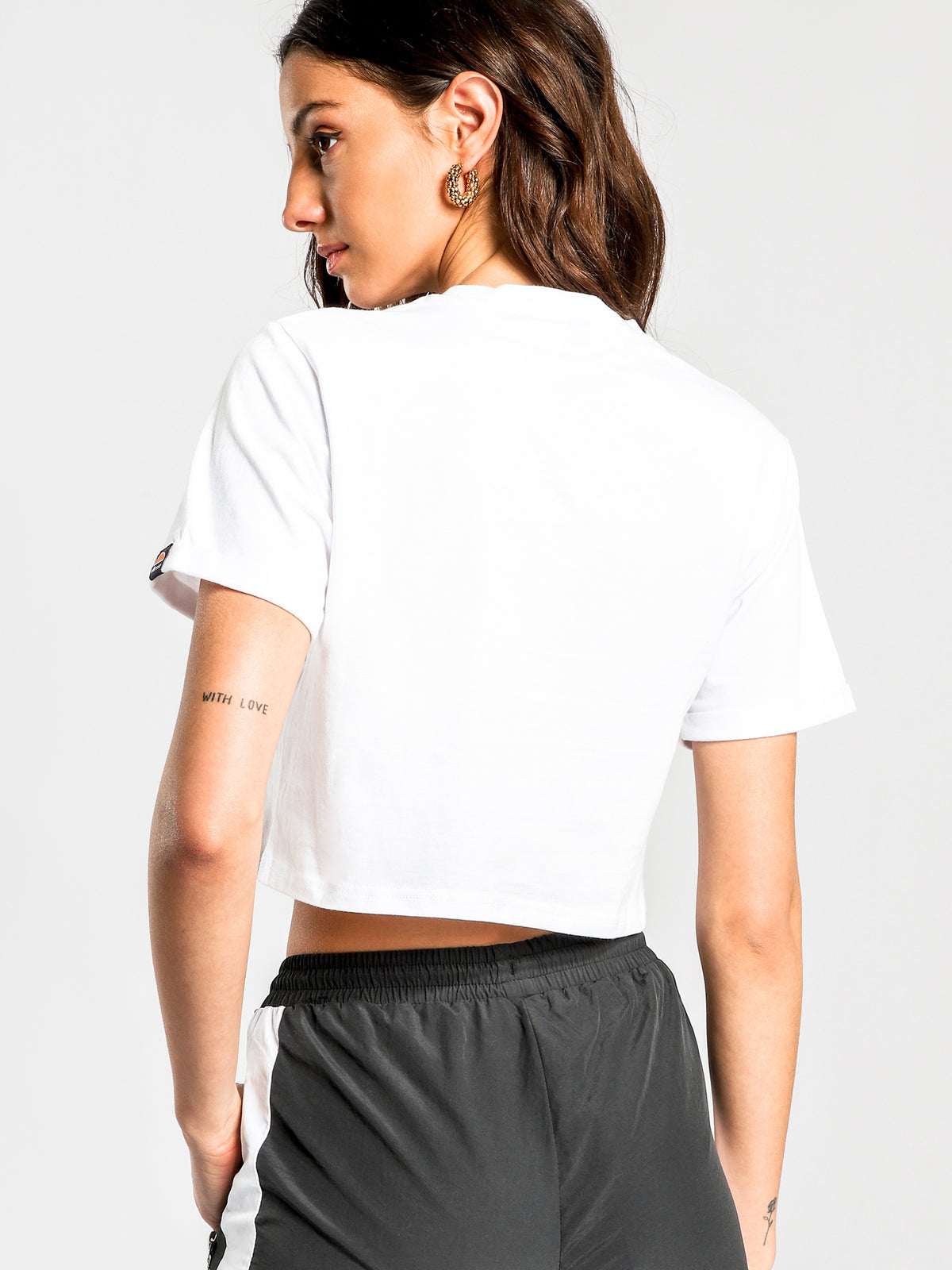 Matamata Cropped T-Shirt in White