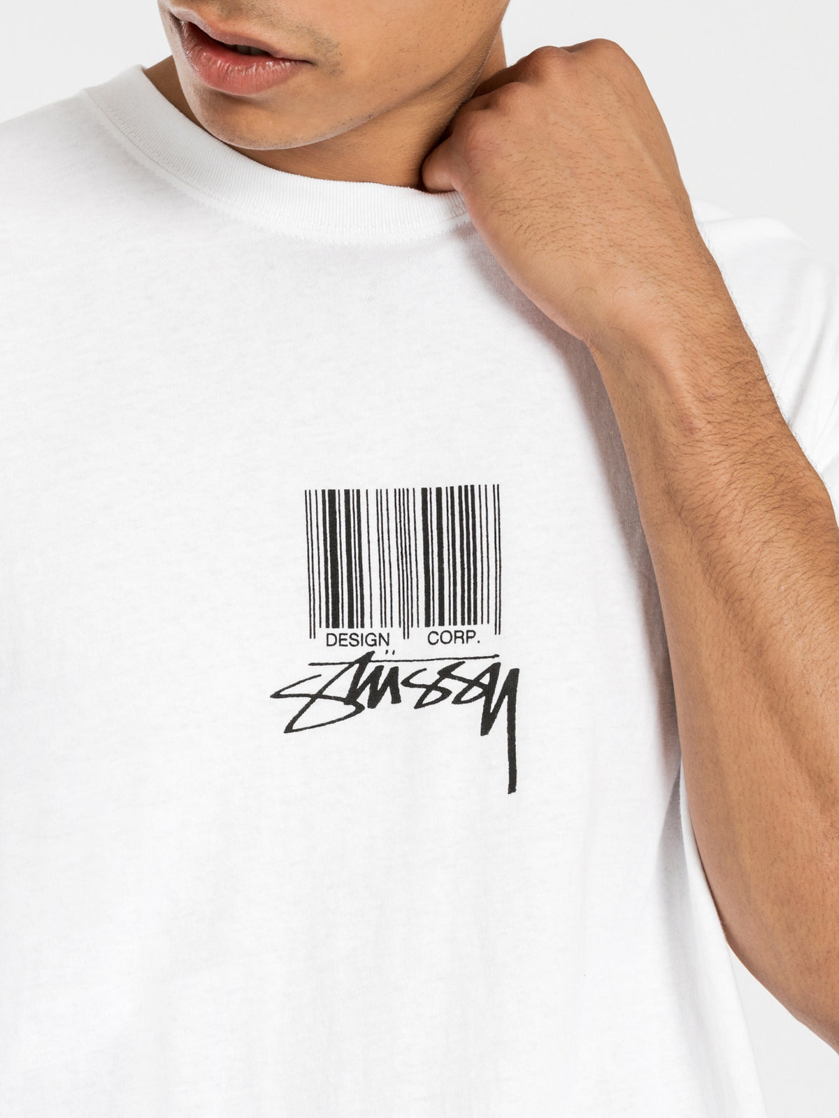 Barcode Short Sleeve T-Shirt in White
