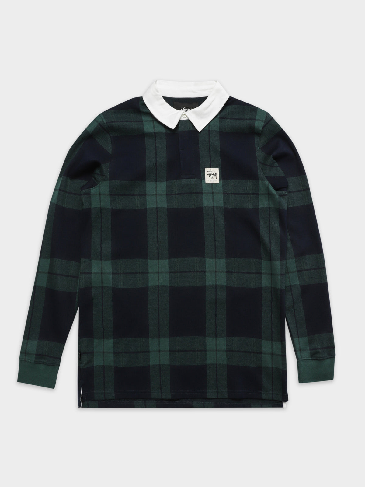 June Jacquard Rugby Shirt in Green