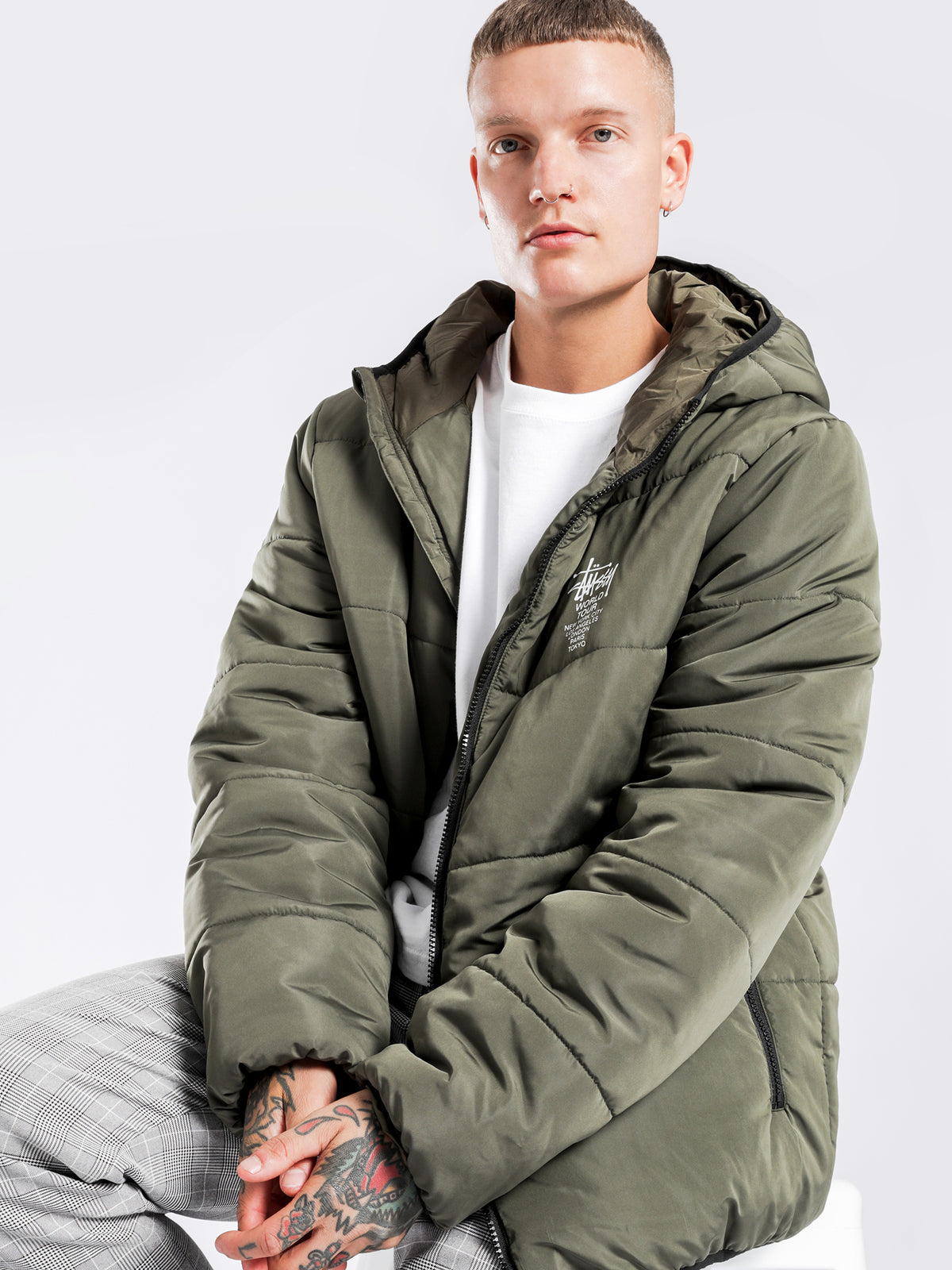 Worldwide Lightweight Puffer Jacket in Flight Green