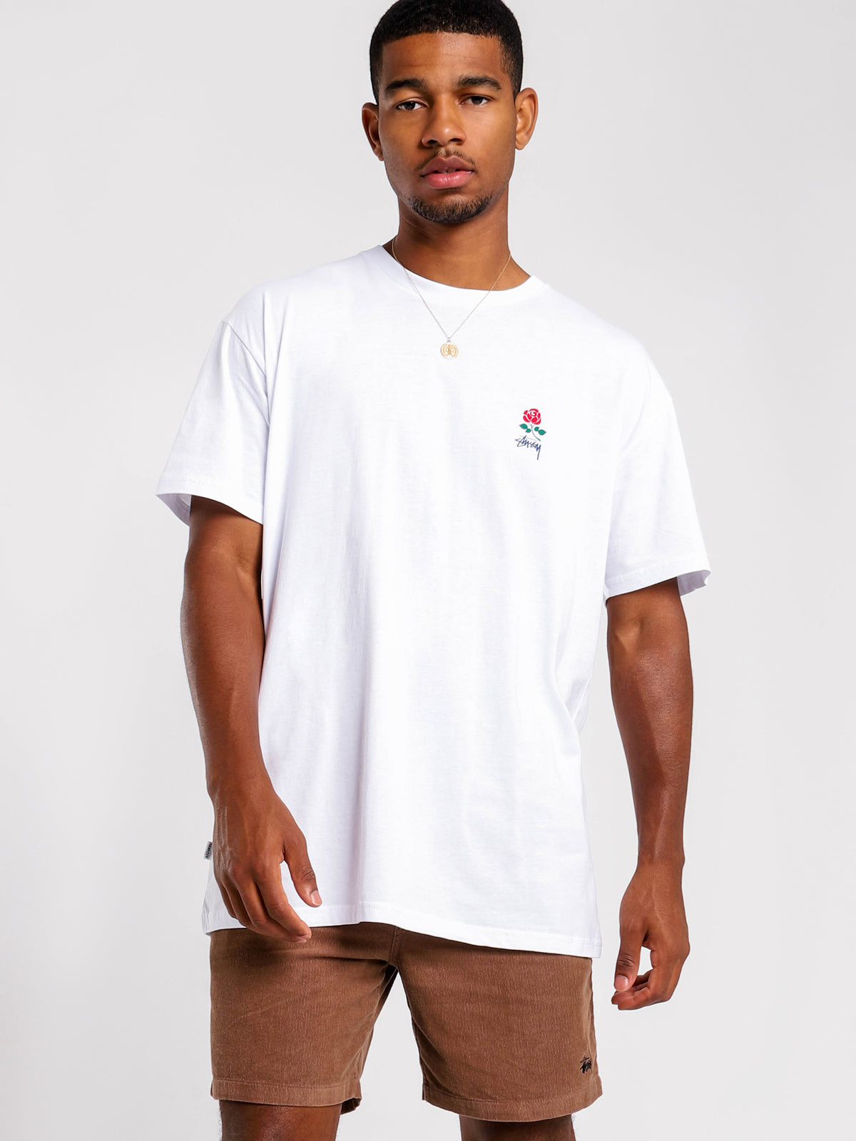 Brooklyn Rose Short Sleeve T-Shirt in White