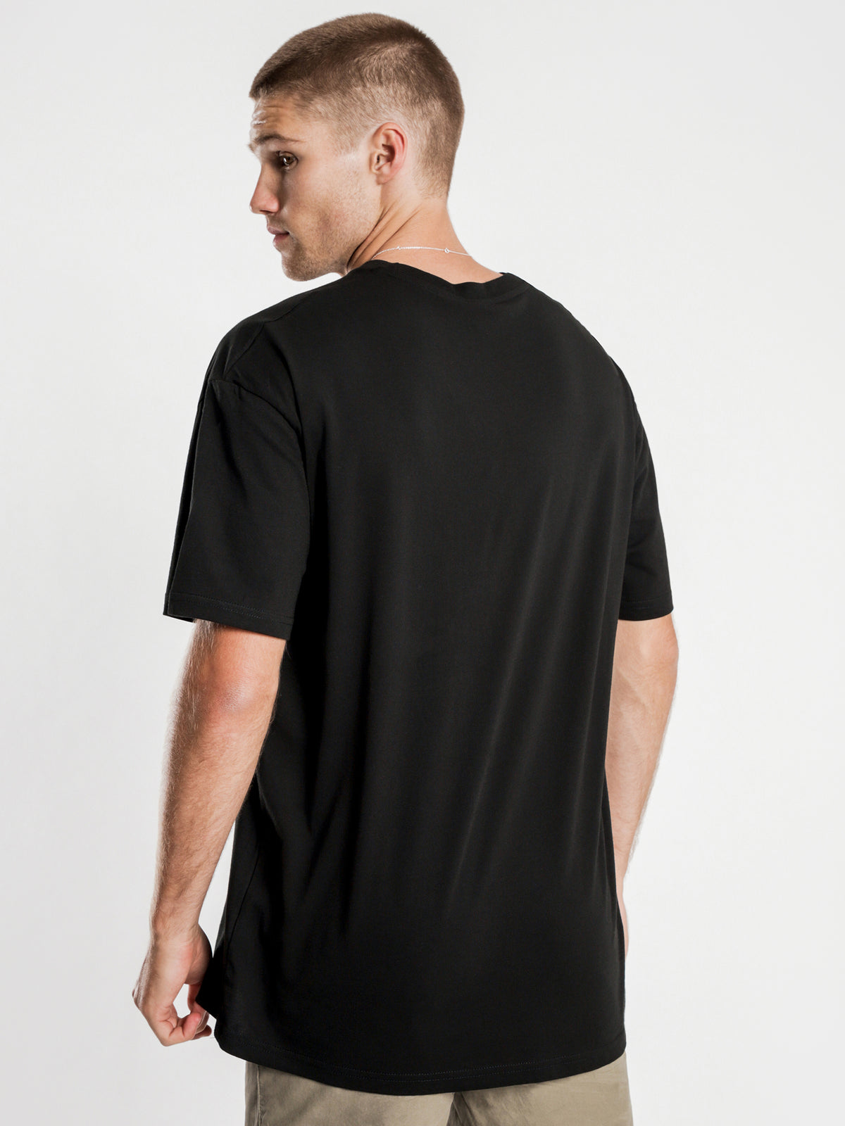 Stock International Short Sleeve T-Shirt in Black