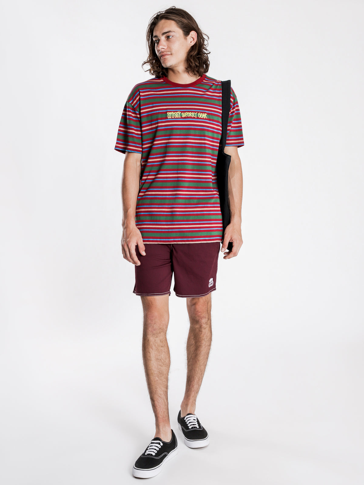 Undone Short Sleeve T-Shirt in Plum