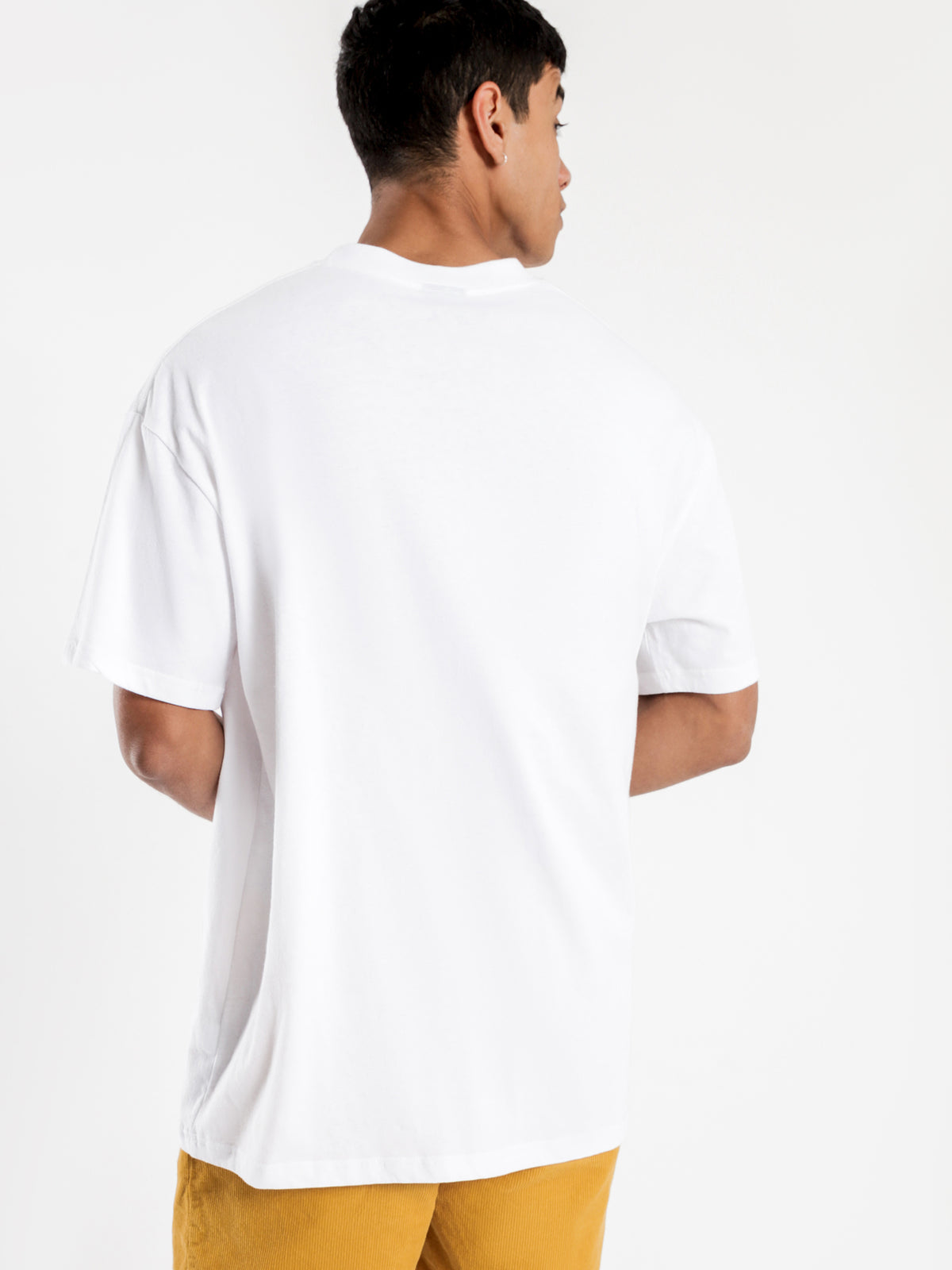 Graffiti Link Pocket Short Sleeve T-Shirt in White
