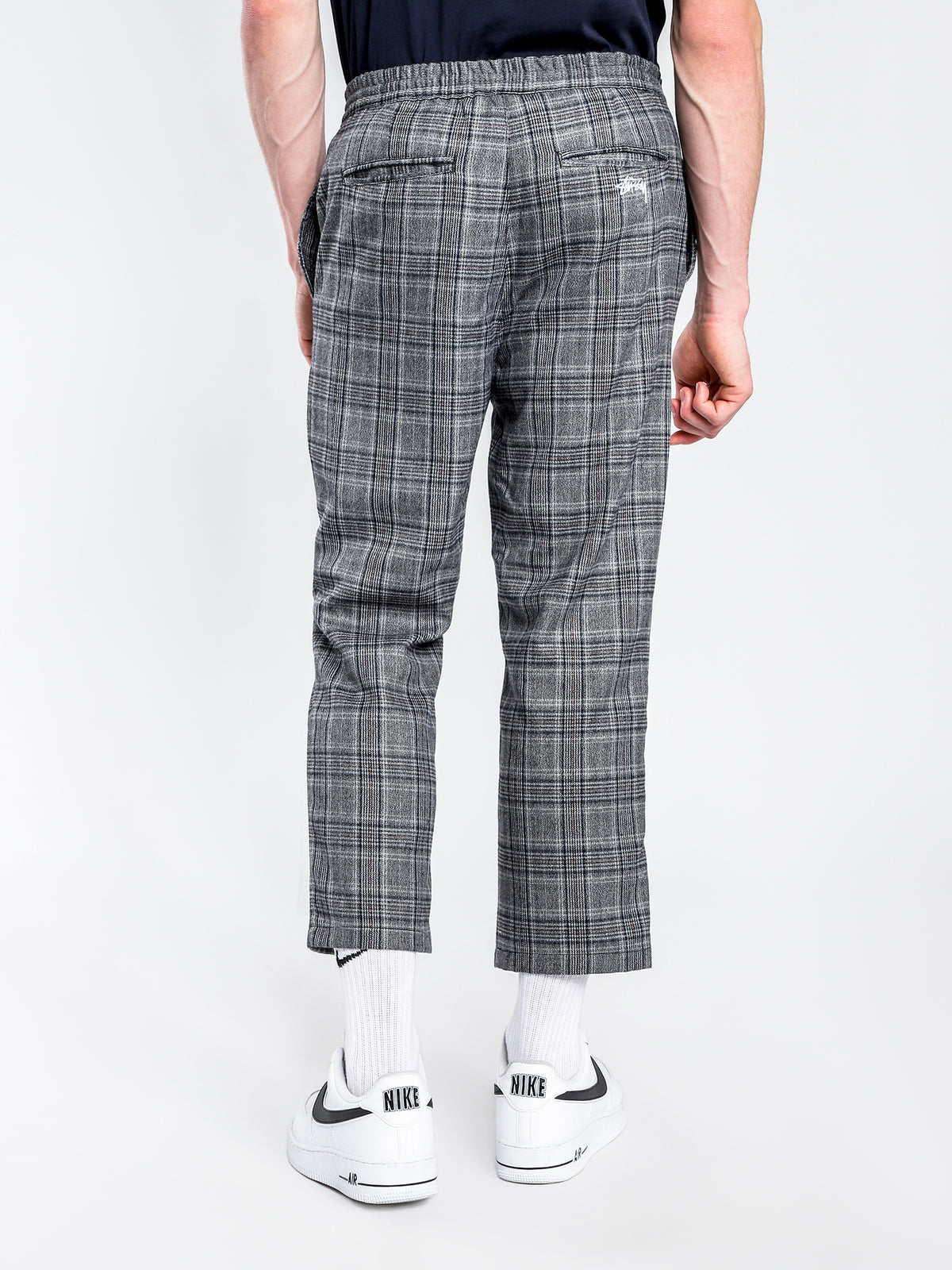 Glaser Street Pants in Blue & Grey Check