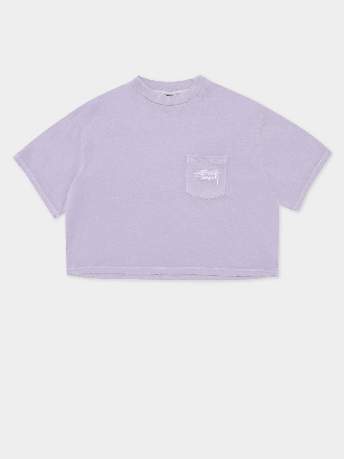 Designs Pocket T-Shirt in Lilac