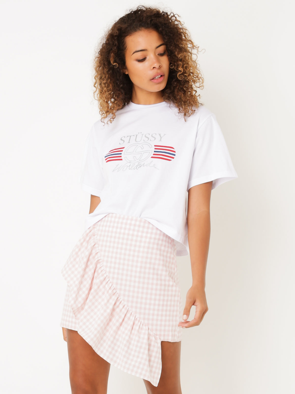 Stevie Crop T-Shirt in White