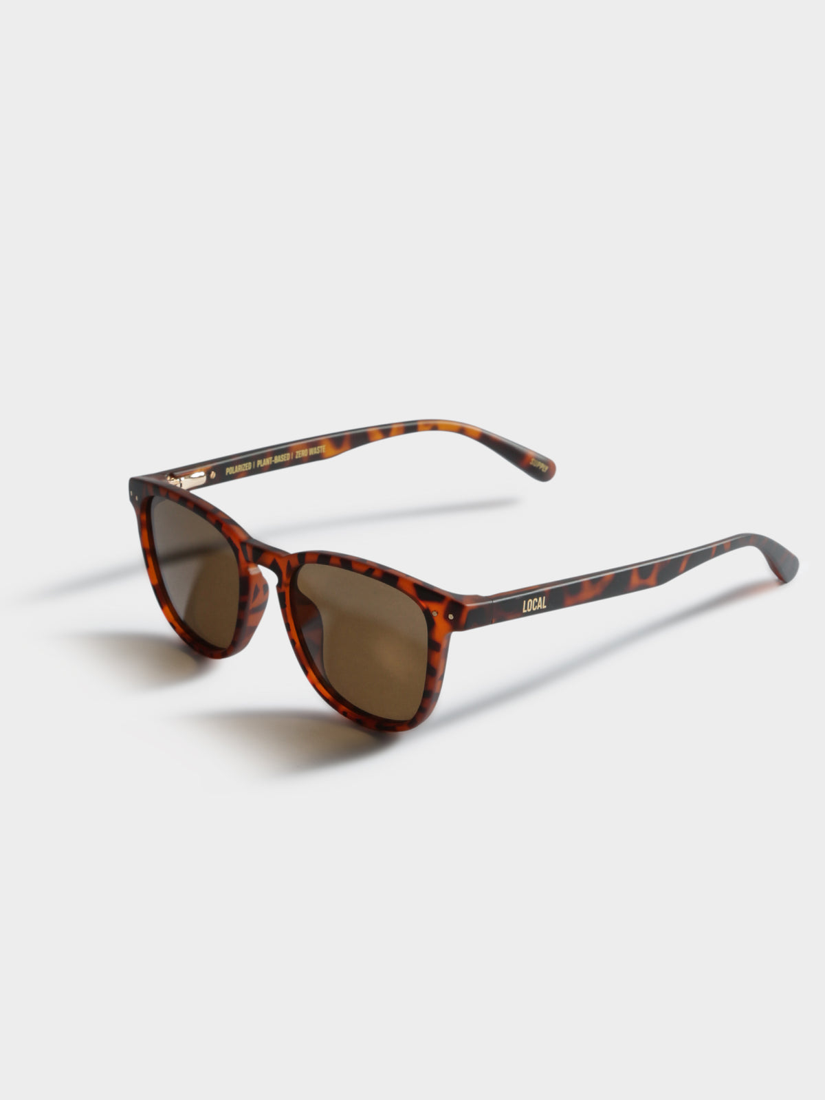 SYD Polarized Sunglasses in Tortoise Shell Brown