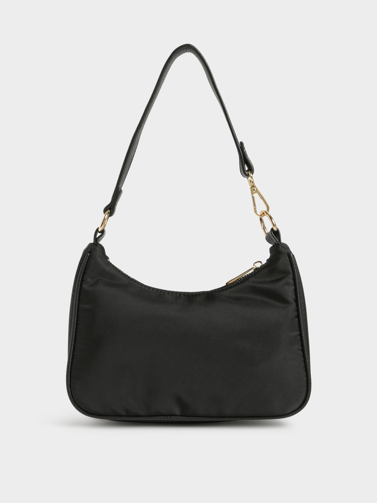 Tal Nylon Shoulder Bag in Black