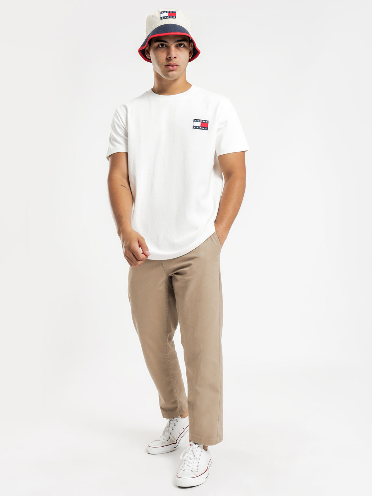 Tommy Badge T-Shirt in White