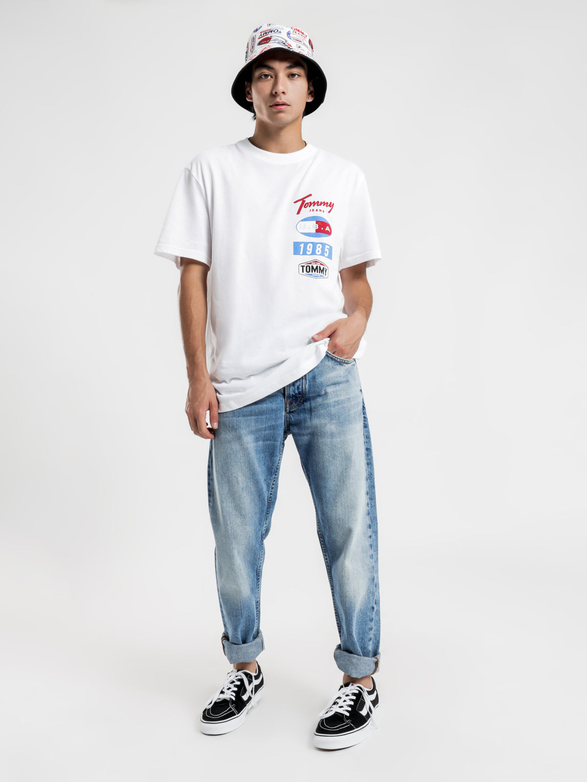 Printed Patches Logo T-Shirt in White