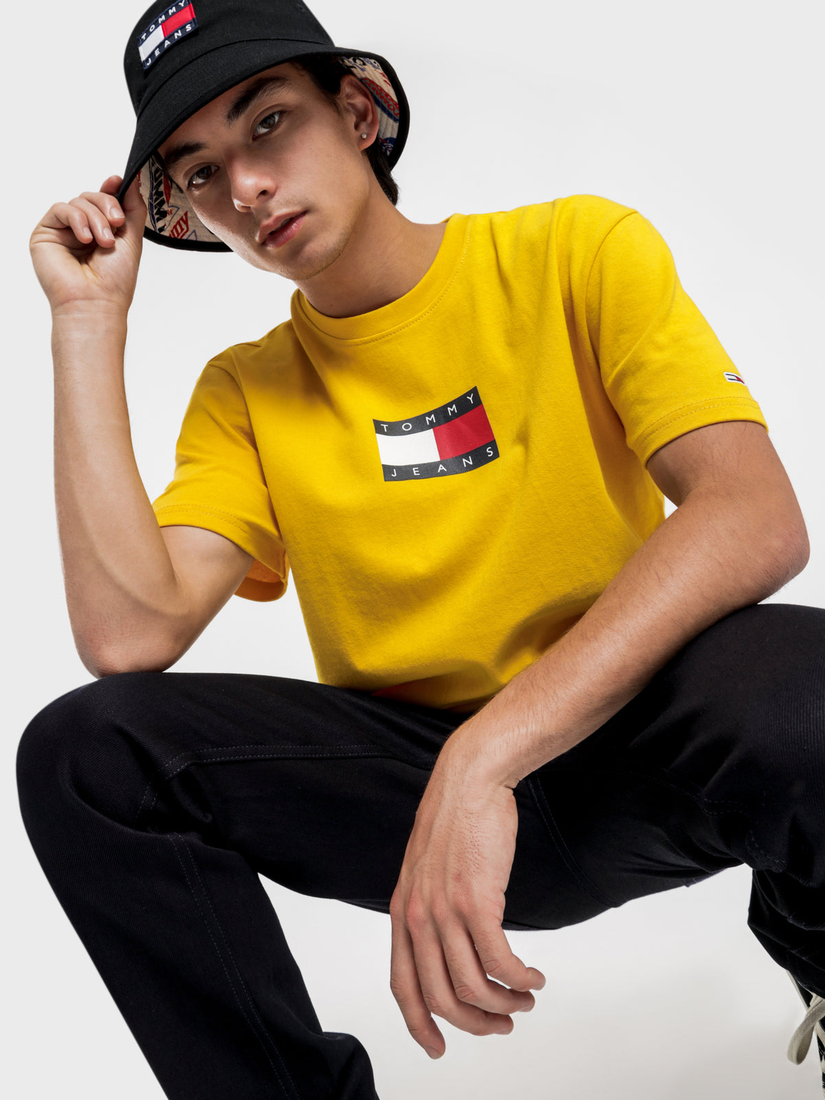 Small Flag T-Shirt in Star Fruit Yellow