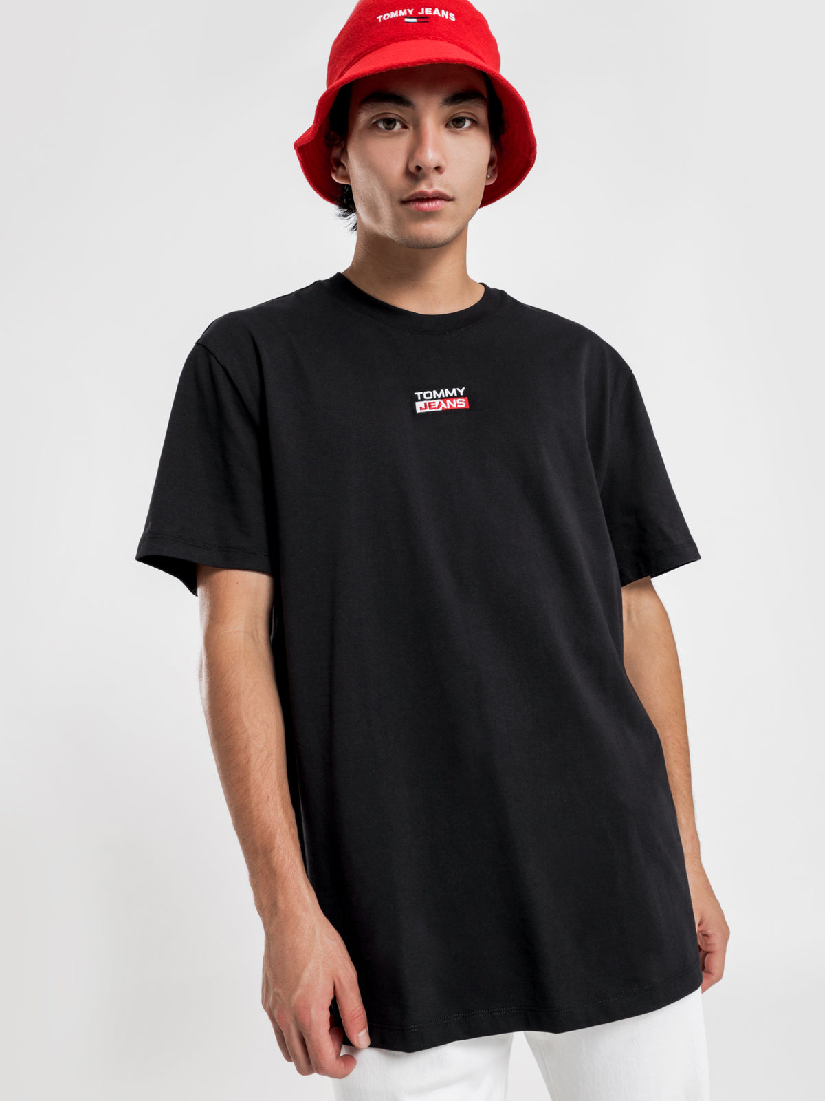 Small Centred Logo T-Shirt in Black