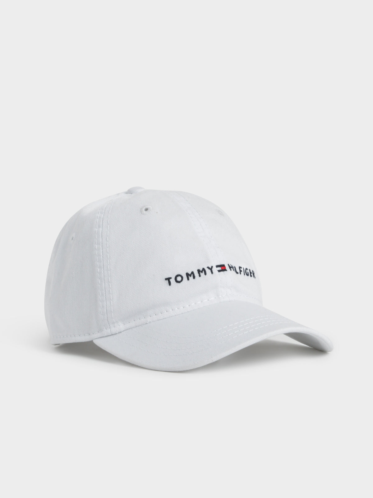 Hilfiger Cap in Deep Woven White