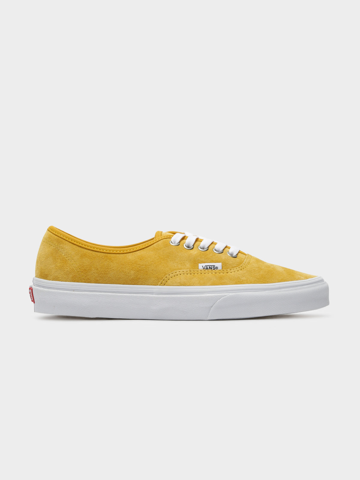 Unisex Authentic Pig Suede Sneakers in Yellow & White