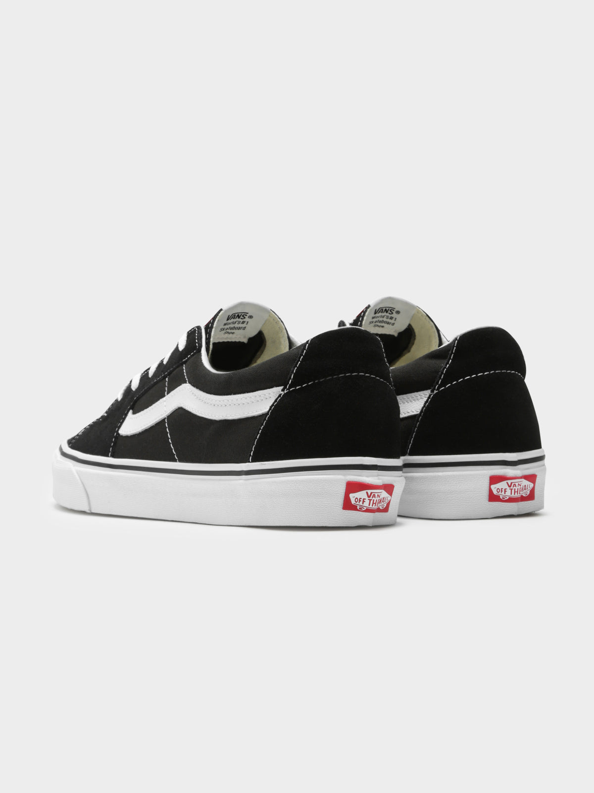 Unisex Sk8-Low Sneakers in Black & White