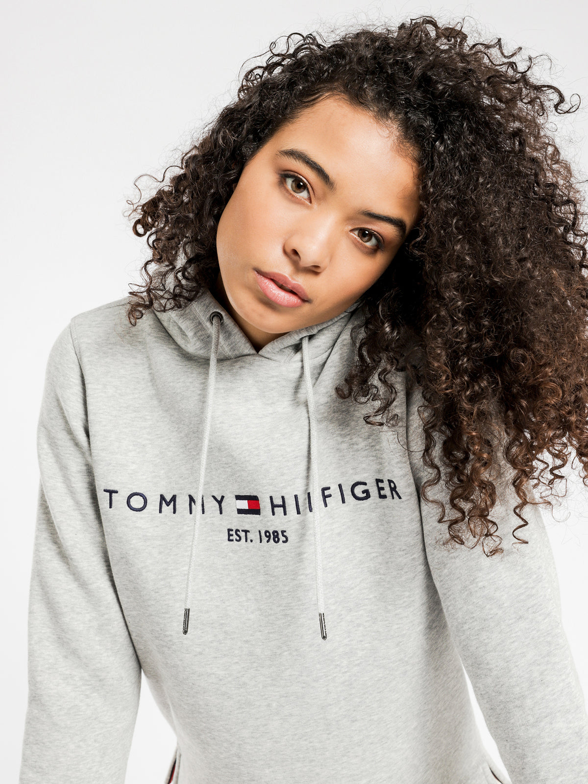 ESS Hilfiger Hoodie in Light Grey Heather