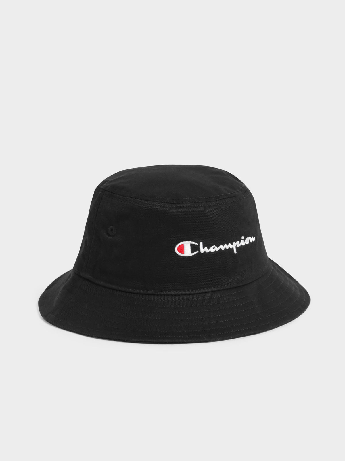 Twill Bucket Hat in Black