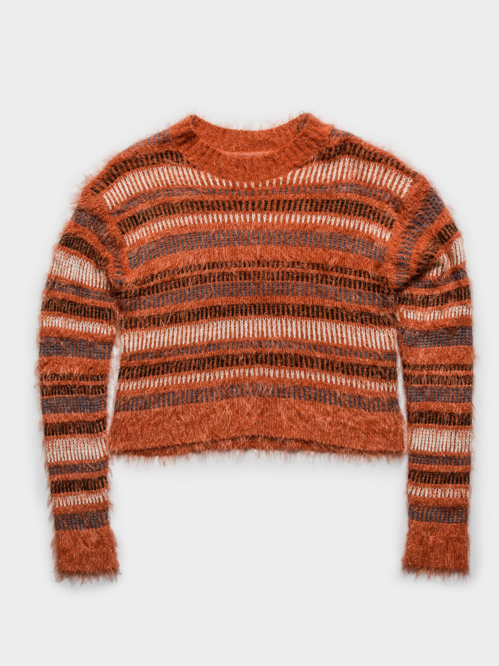 Continuous Knit Stripe in Orange