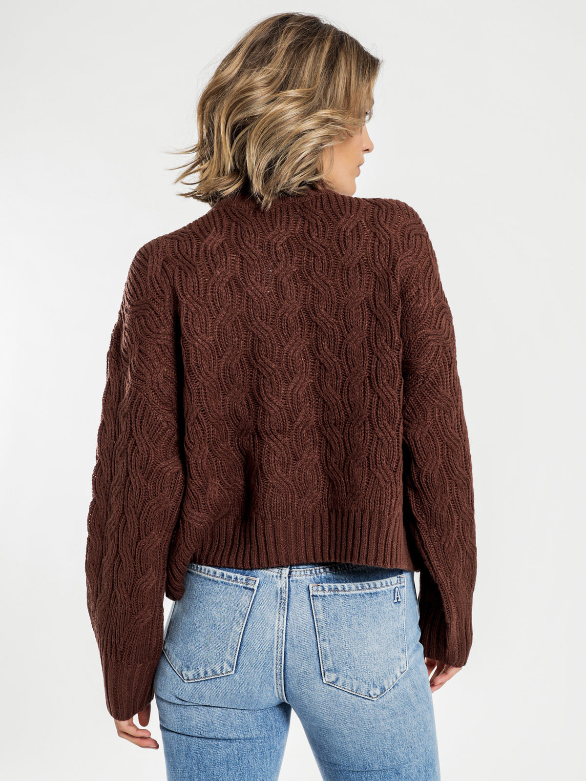 Mahogany Oversized Knit in Chocolate