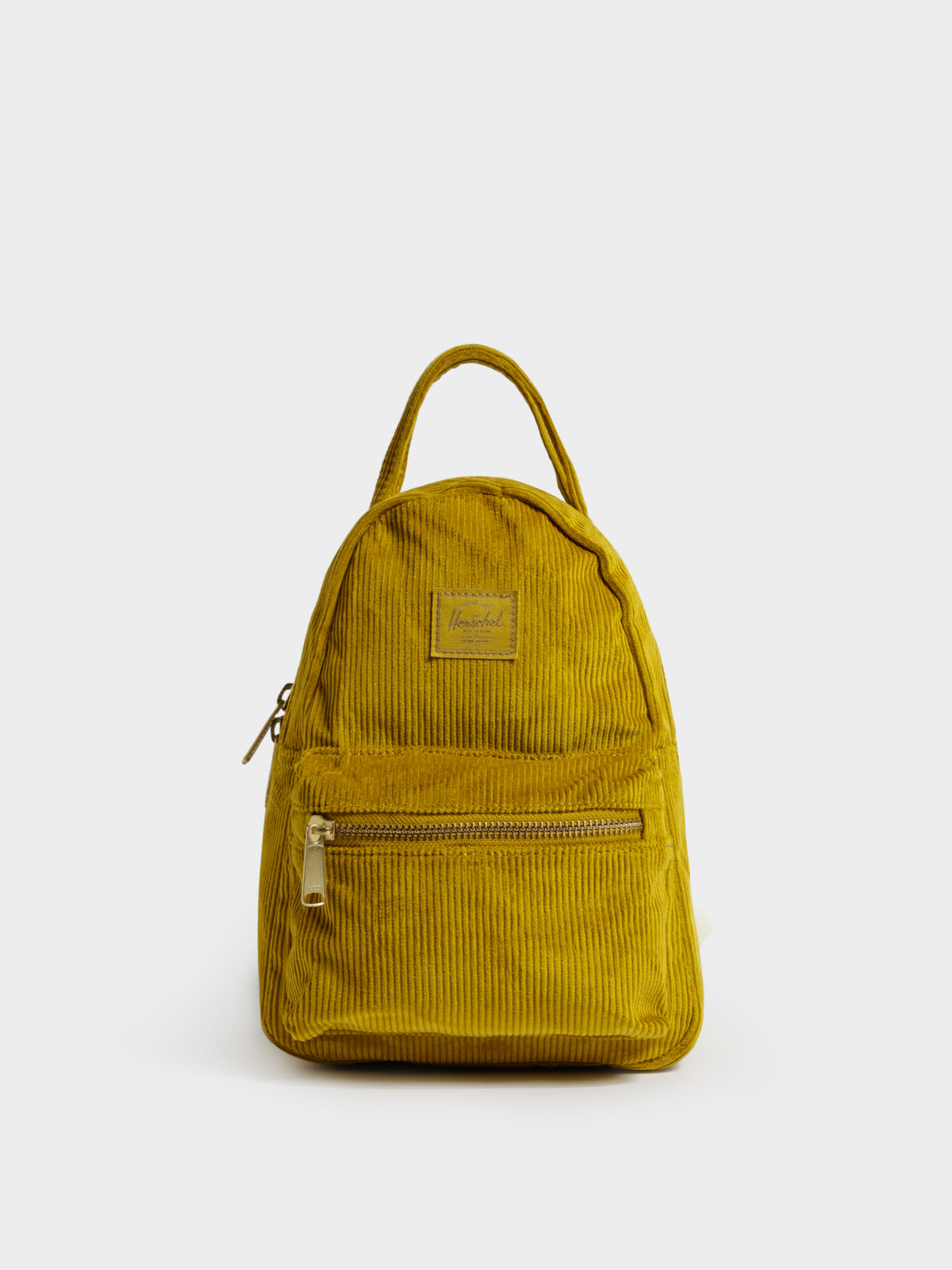 Nova Small Backpack in Mustard Corduroy