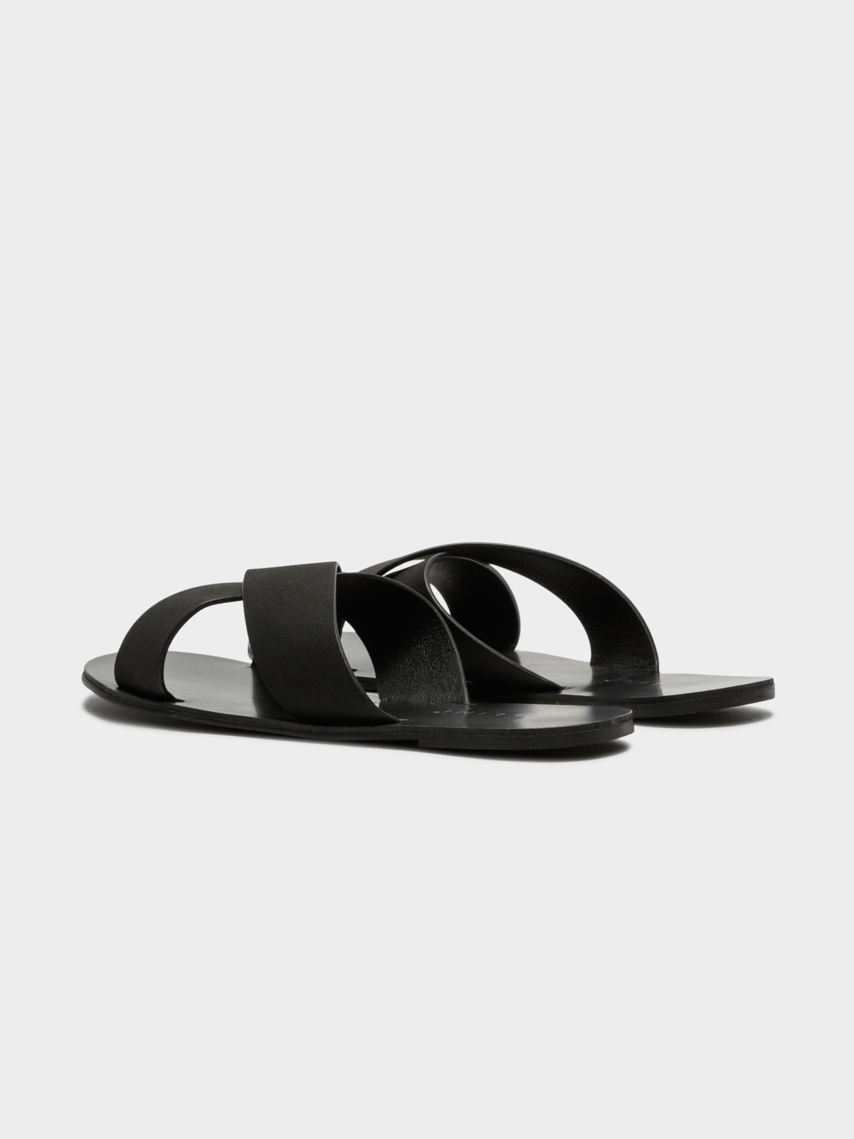 Womens Majorca Slides in Black