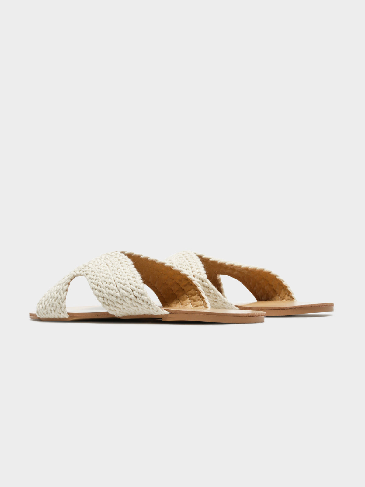 Astor Woven Slides in Natural