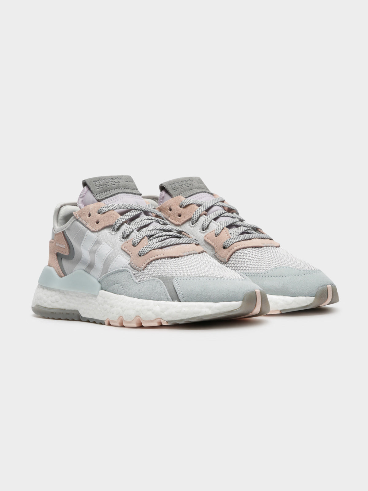 Womens Nite Jogger in Grey Pink & White