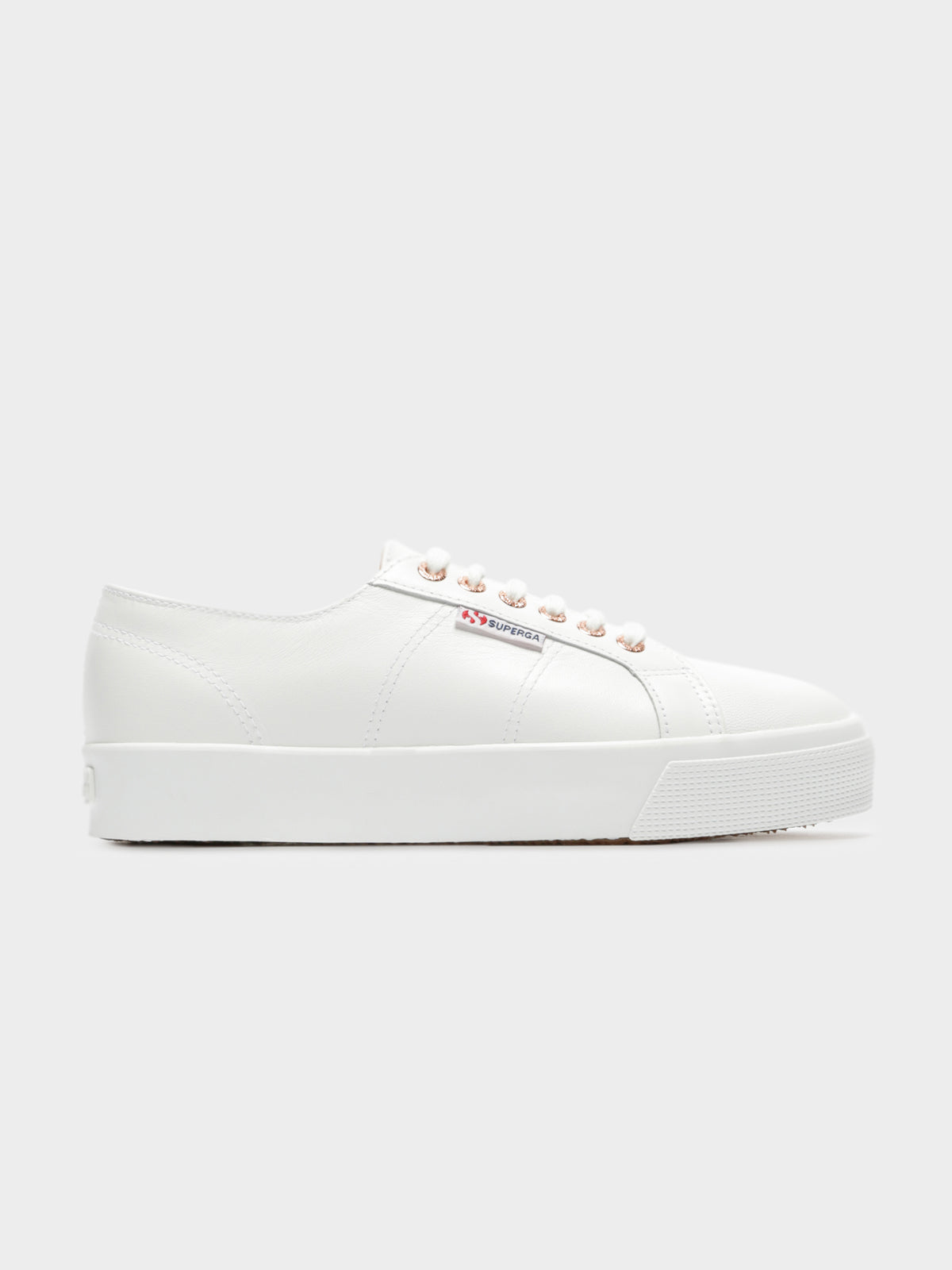 Womens 2730 Leather Nappaleau Sneakers in Rose Gold & White