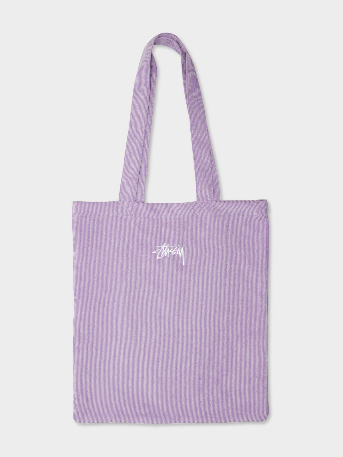Logo Cord Tote Bag in Washed Purple Corduroy