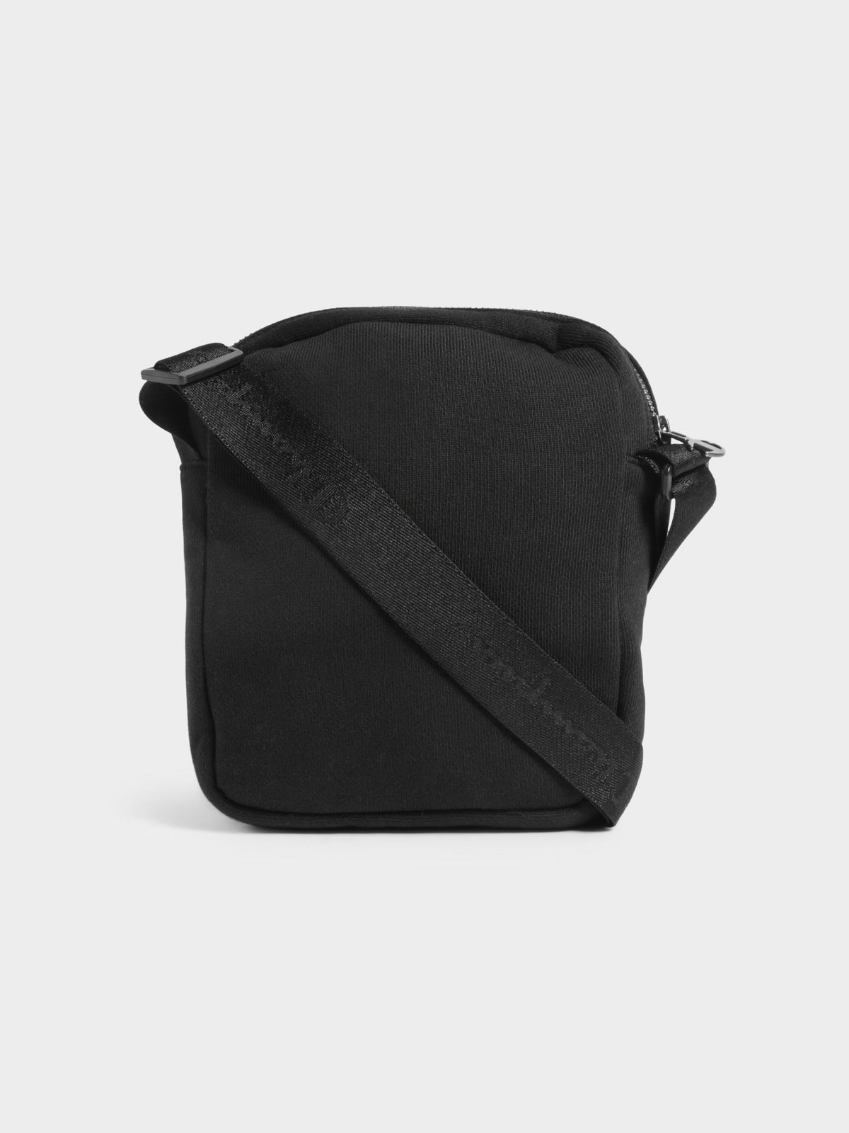 Reverse Weave Pocket Satchel Bag in Black