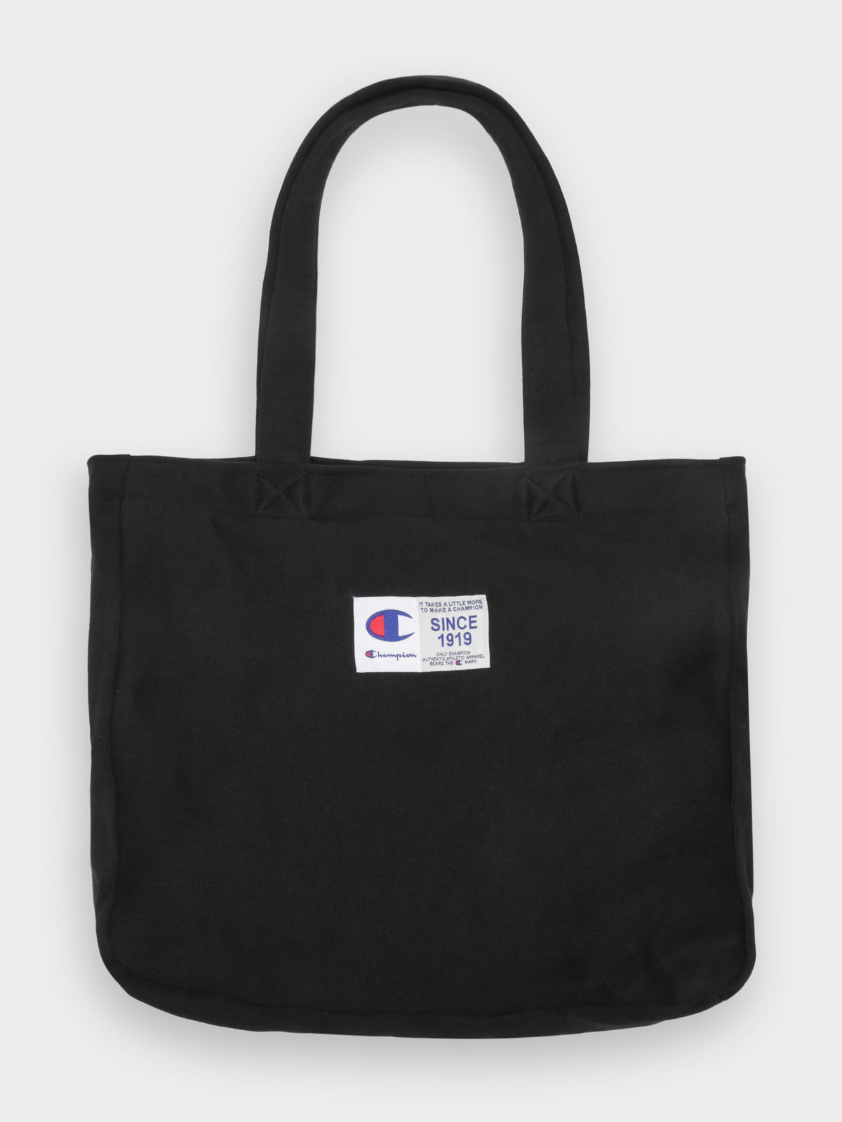 Reverse Weave Jersey Tote Bag in Black