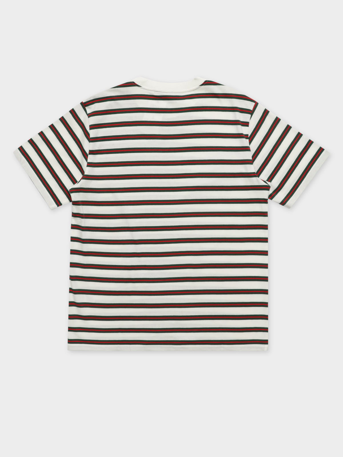 Oakland Short Sleeve T-Shirt in Green & Red Stripe