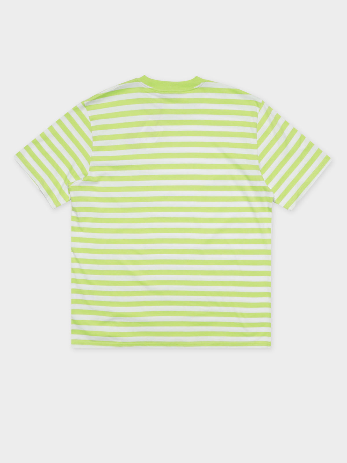 Scotty Short Sleeve T-Shirt in Lime & White Stripe