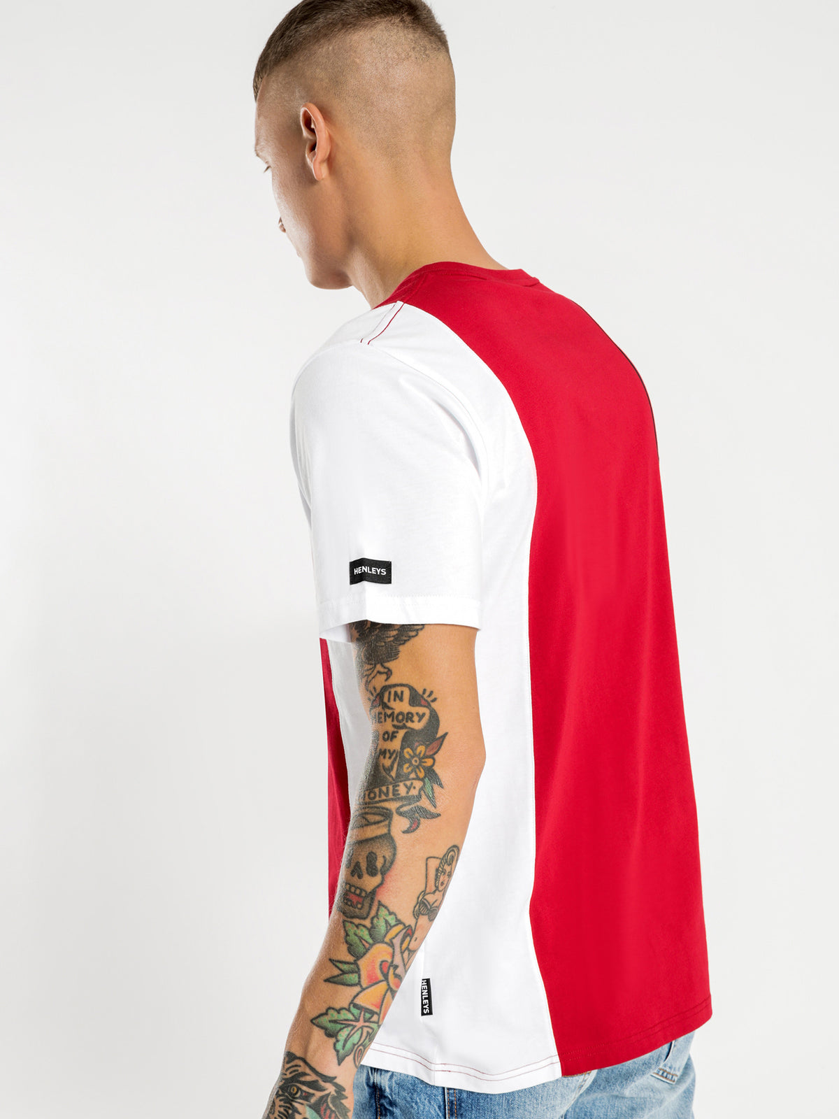 Roberts T-Shirt in Red White & Navy