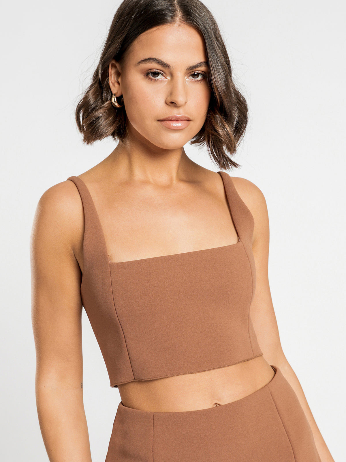 Niclette Bonded Top in Tan