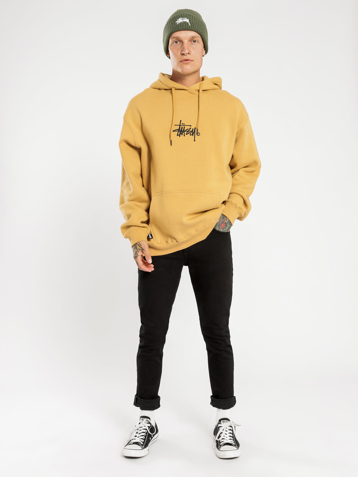 Graffiti Hoodie in Orche Yellow