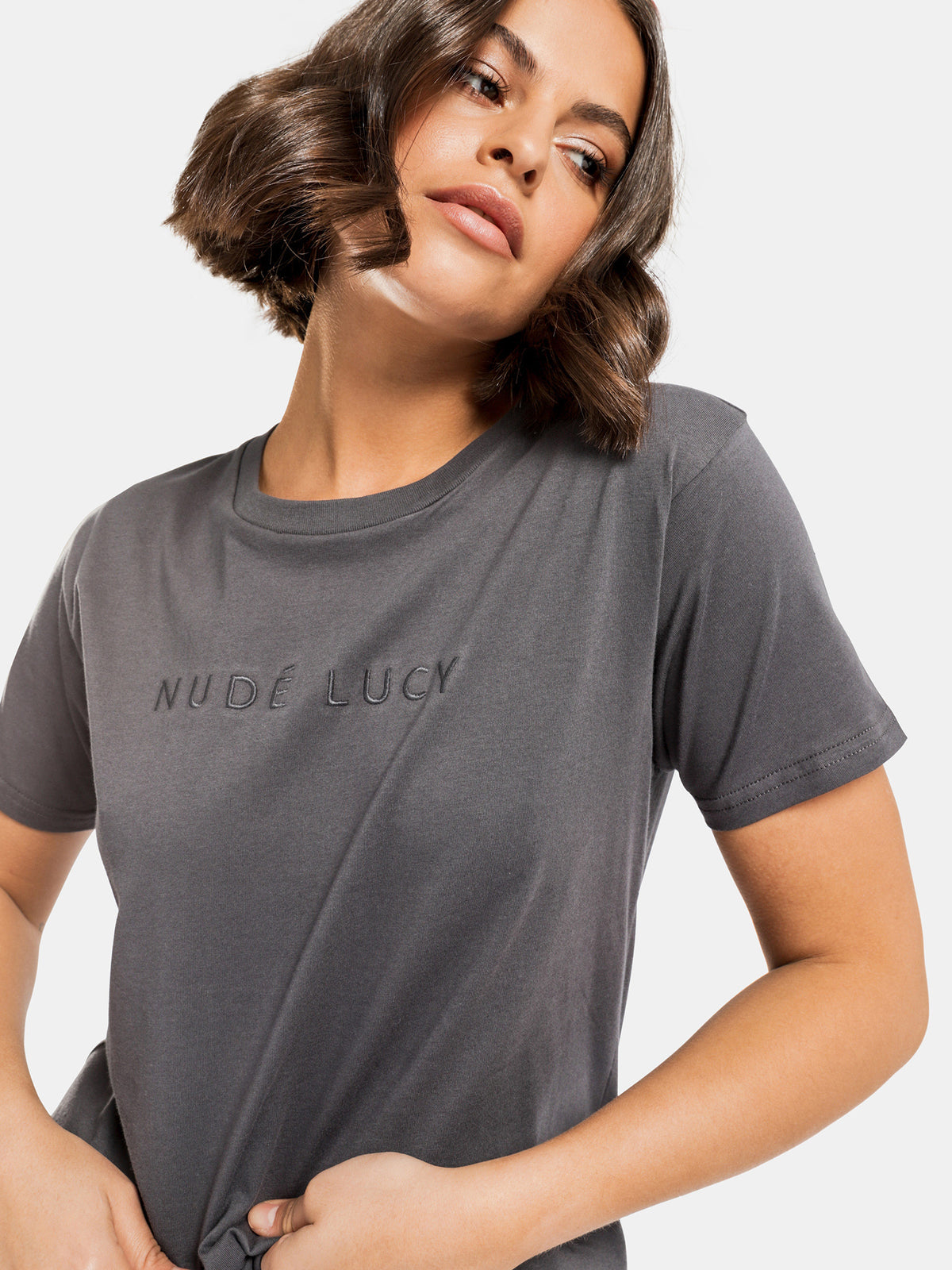 Nude Lucy Slogan T-Shirt in Navy