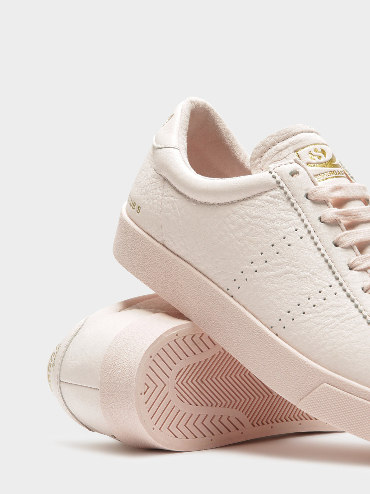 Womens 2843 Tumbled Leather Sneakers in Pink