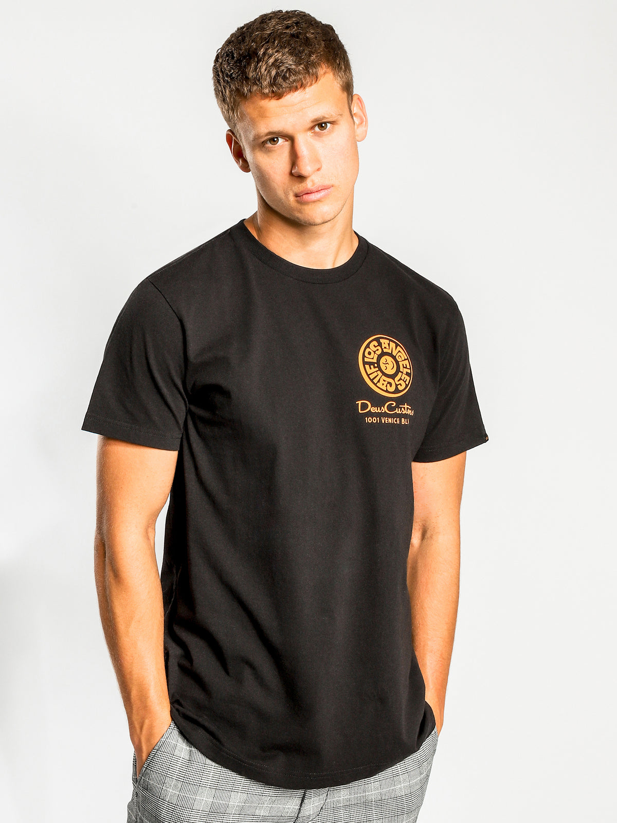 Venice Address T-Shirt in Black